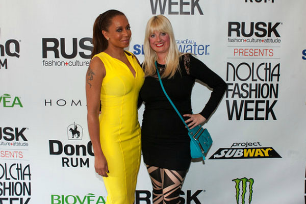 Mel B and Kerry Bannigan supporting Homanz at Nolcha Fashion Week: New York, presented by RUSK SS14