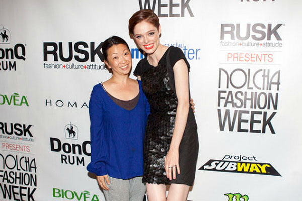 Coco Rocha supporting Homanz at Nolcha Fashion Week: New York, presented by RUSK SS14