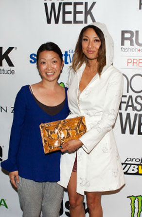Jeannie Mai  supporting Homanz at Nolcha Fashion Week: New York, presented by RUSK SS14