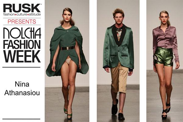 Runway Recap: Nina Athanasiou at Nolcha Fashion Week: New York presented by RUSK SS14