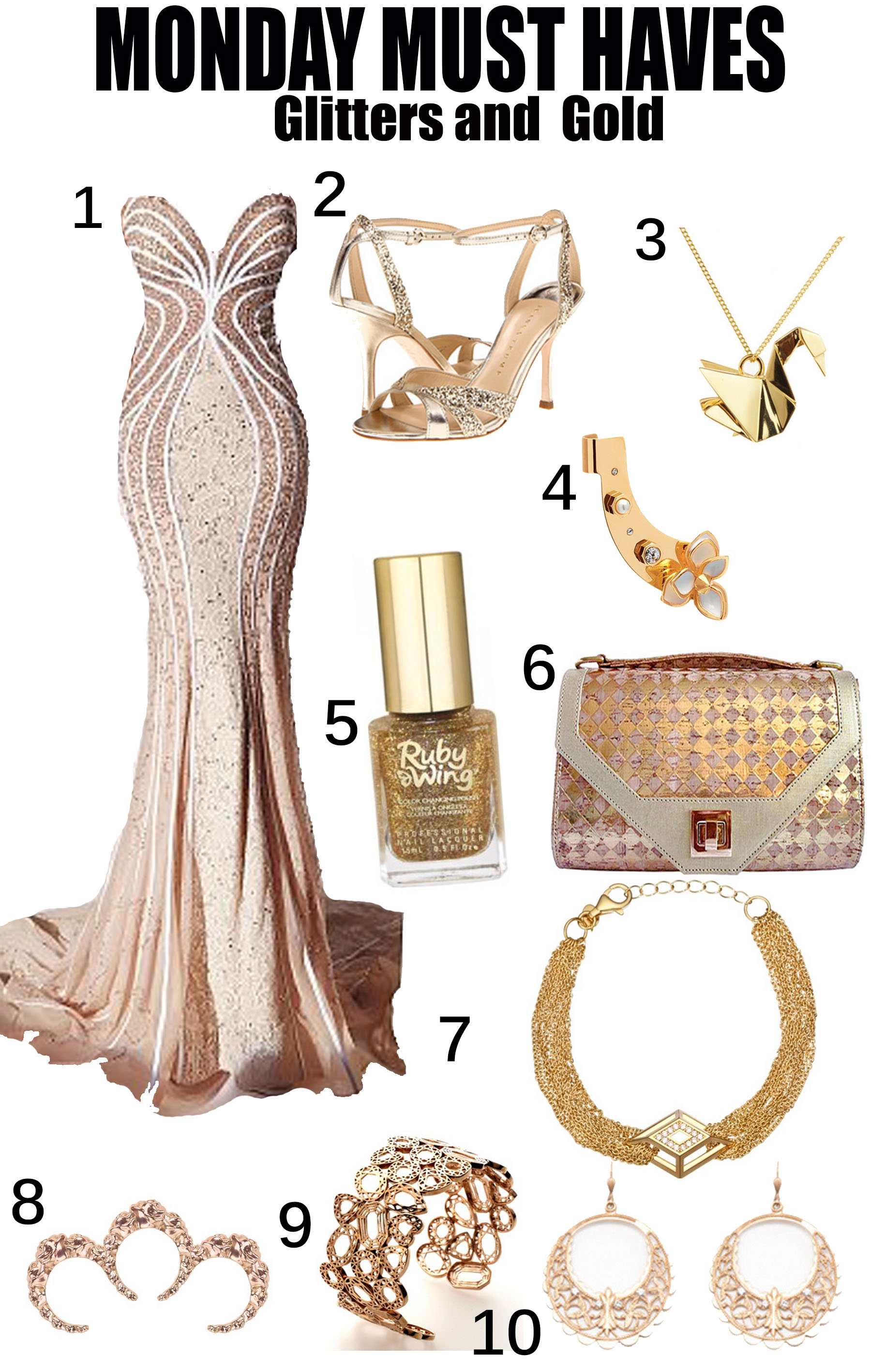 #MondayMustHaves – Glitters and Gold